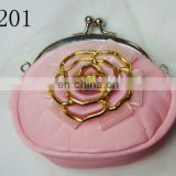 round roze coin purse