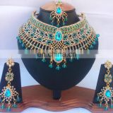 INDIAN FASHION BOLLYWOOD DESIGNER BRIDAL WHOLESALE JEWELRY NECKLACE EARRINGS SET