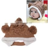 Knitted Wool Warm Hat / Christmas Hat for Baby(Brown)