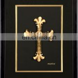 Cross Oriental Picture Frame Collectable Antique Gold Leaf Frame Wall Mirror Business Gift