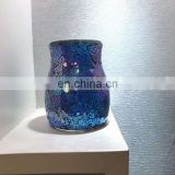 crack mirrored decorative table top mosaic glass flower vases