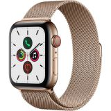 Apple Watch Series 5 (GPS + Cell, 44mm, Gold Stainless Steel, Gold Milanese Loop) Price 150usd
