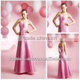 Ankle-length Sweetheart Sleeveless Satin A-line Bridesmaid Dress