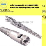 screw barrel /Cincinnti Battenfeld KMD conical twin screw and barrel/ screw and barrel for plastic extruder machine