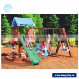 Children funny games plastic outdoor indoor playground with swings and slides climbing