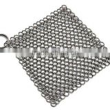 Cast Iron Cleaner Stainless Steel Chainmail Premium Scrubber Pans Pots Griddles
