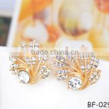 Fashion without ear pierced ear clip Diamond earrings The bride adorn article high-grade fashion crystal earrings