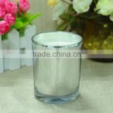inside glass Electroplating silver,outside glass is clear candle glass jar, Electroplating candle holder                                                                                                         Supplier's Choice