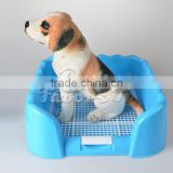 Pet Dog Rectangle Shape Mesh Design Indoor Toilet