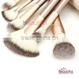 OEM/ODM wholesale high quality personalized Professional 24pcs custom logo cosmetic orange makeup brush set