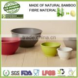 Natural Bamboo fiber kitchen ware,multi-function salad bowl