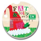 Merry Chrismas Absorbent coasters for car cup holders