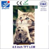 "Factory direct supply 4.5"" inch super thin tft lcd module with full viewing ips screen"