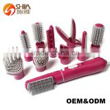 rotating electric hot air brush korea hair dryer and straightener in one                                                                         Quality Choice