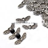 Top Quality 7x22mm Butterfly Wings Style #2 Tibetan Silver Metal Spacer Beads 50pcs per Bag For Jewelry Making Findings