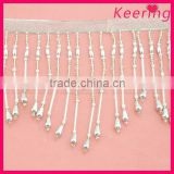 New fashion bead trimming,tassel fringe beaded trimming for garment WTP-1299