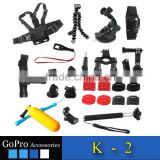 Wholesale Camera accessories kit for Go Pro , floaty Bobber, Monopod and Suction Cup Mount for Gopro hero 4/3+/3/2/1