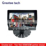 factory best 7inch Digital LCD car Rear View Monitor Support 4-CH inputs with quad function