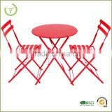 HL-3S-15015 folding garden bistro set full color folding table sets for garden decoration