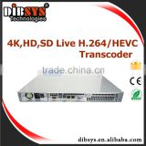 Carrier-grade video encoding/transcoding H.265 and HEVC IPTV headend System