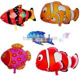 2016 Advertising Fish shaped foil balloon Inflatable animal Nemo shapedhelium balloon party decoration
