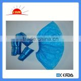 2016 Hot sale PE or CPE material dust-proof disposable medical shoe cover with CE&FDA