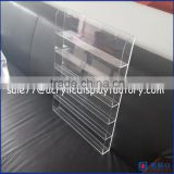 New clear 6 tiers clear wall mounted acrylic nail polish display stand/cosmetics dispaly rack