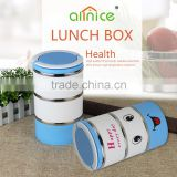 Allnice carton design multilayer stainless steel kid lunch box/food warmer bento box for students