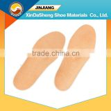 full length air holes breathable sheep skin leather arch support insole
