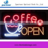 Super Bright Coffee LED NEON Open Sign