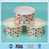 Biodegradable disposable paper cup for ice cream/ Cutom printed ice cream paper container/ Cheap soup bowl with lid