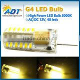 AC/DC 12V G4 5W 48 LED 3014 SMD Spot Light Lamp Bulb Energy Saving Warm Day