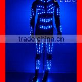 Full color change led costume tight,stage dance led clothing,custom size led lighting clothing