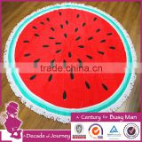 promotional velour printed round beach towel with digital printing watermelon towel