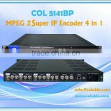 COL5141BP iptv solution 4 channels mpeg2 low bite rate IP stream Encoder
