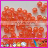 Orange ab color clear Round Acrylic beads colorful ab effect with holes 3mm to 16mm for jewelry Necklace,bracelet