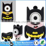 Bulk Popular Cartoon Super Heroes Series Usb Flash Drive Custom Pendrive,Wholesale Full Capacity Minions Memory Stick