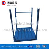 Practical and space-saving flat steel rack pallet also for storage use dismantling racks