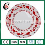 Alibaba china supplier customized cheap porcelain dinner plate, wholesale round flat ceramic plate with logo