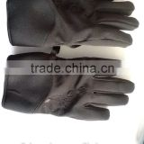 micro twill stretchy nylon gloves leather glove