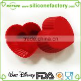 Hot selling!2015 newest Valentine heart shaped custom silicone cupcake stand, silicone cake mould