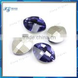 New arrive nano crystal glass stone violet marquise shape crystal diamond stone/gemstones amethyst