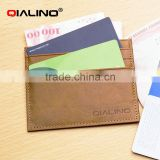 QIALINO Men Front Pocket Wallet Genuine Leather Credit Card Holder