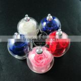 30mm round silver plated glass bottle dome with red,white,pink,blue,purple rose dry flower DIY charm supplies 1820269