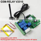 GSM relay switch controller SMS texts for switching relay with dialling-in remote control