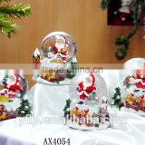 Resin santa claus for crystal ball christmas ornaments,traditional santa claus crafts