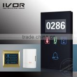 Gold touch screen hotel use electric door bell industrial door bell office door bell glass cover doorbell panel