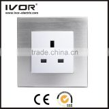 2016 new design IVOR aluminum Smart Touch Electrical Switches / Switch Socket / UK Switch