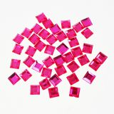 Pink 15mm Large Square Rhinestone Stickers