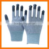 PVC Dotted Carbon Fiber ESD Gloves